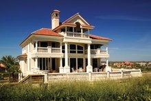 Dream House Plan - Mediterranean Exterior - Rear Elevation Plan #929-900
