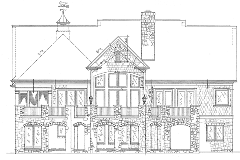 Country Exterior - Rear Elevation Plan #453-301 - Houseplans.com