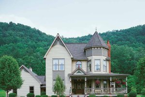 Dream House Plan - Victorian Exterior - Front Elevation Plan #1014-25