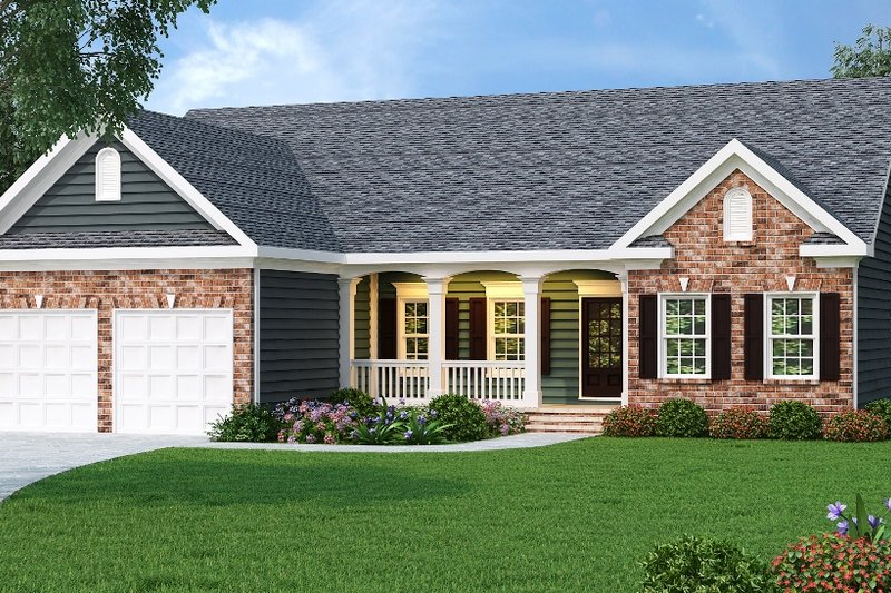 Traditional Exterior - Front Elevation Plan #419-173