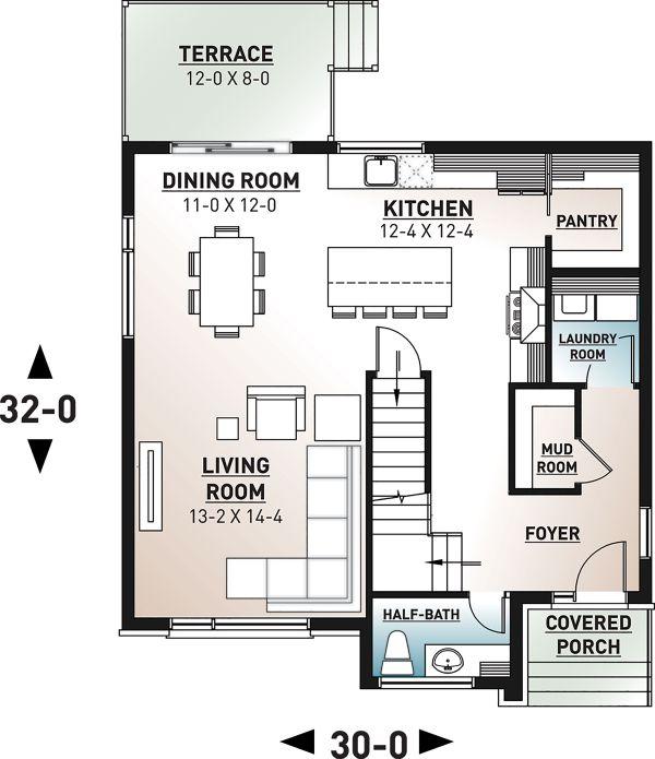 House Plan Design - Modern Floor Plan - Main Floor Plan #23-2702