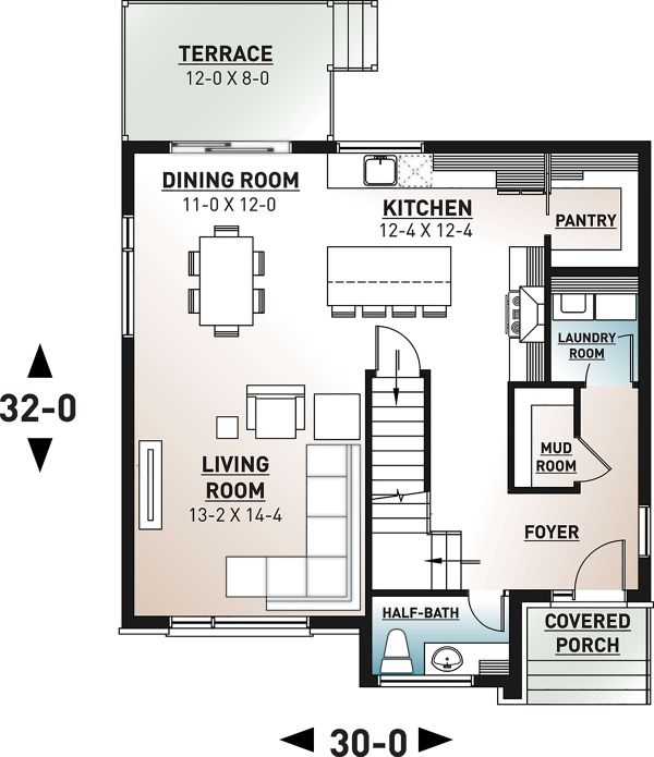 Modern Floor Plan - Main Floor Plan Plan #23-2702
