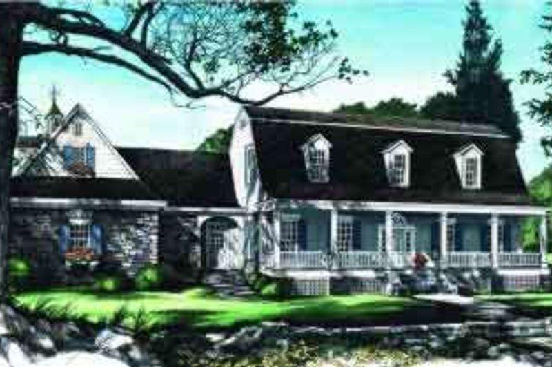 Colonial Exterior - Front Elevation Plan #137-220 - Houseplans.com