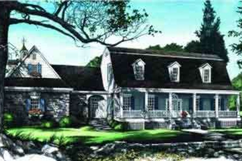 Colonial Exterior - Front Elevation Plan #137-220