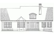 Southern Style House Plan - 3 Beds 2 Baths 2151 Sq/Ft Plan #137-181 Exterior - Rear Elevation