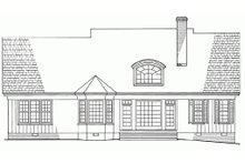 Southern Exterior - Rear Elevation Plan #137-181