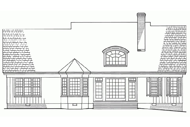 Southern Exterior - Rear Elevation Plan #137-181 - Houseplans.com