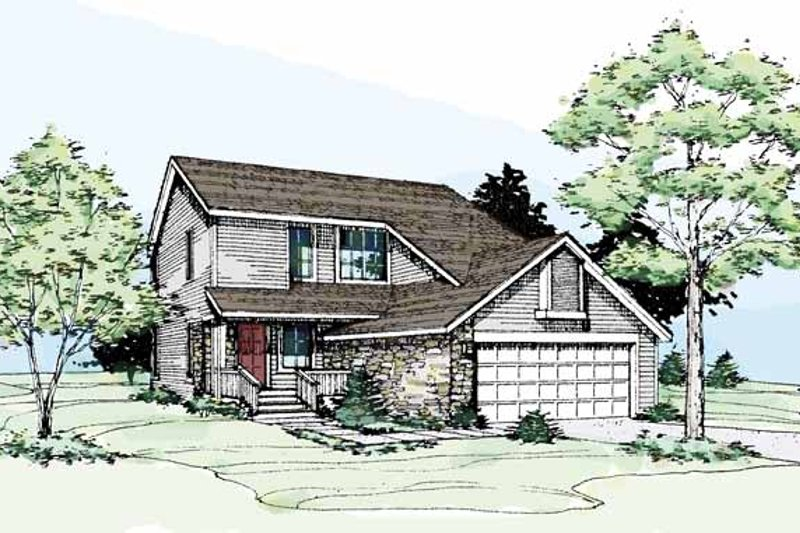 Contemporary Exterior - Front Elevation Plan #320-668