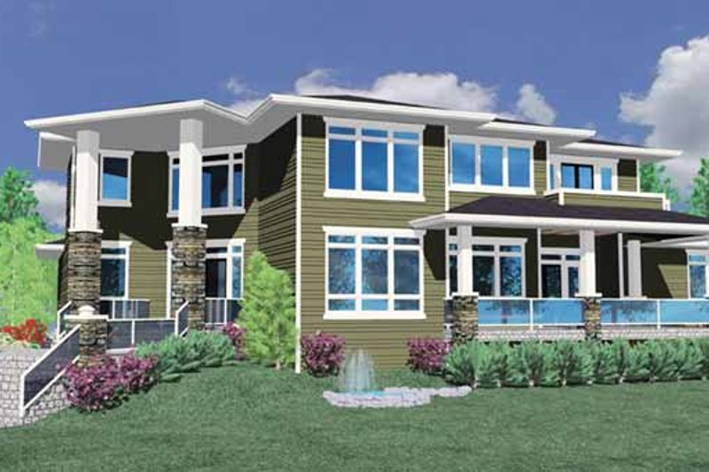 Prairie Exterior - Front Elevation Plan #509-427