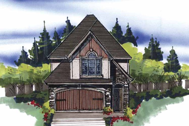 Cottage Exterior - Front Elevation Plan #509-140 - Houseplans.com