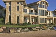 Contemporary Style House Plan - 4 Beds 4 Baths 6075 Sq/Ft Plan #928-67 Exterior - Rear Elevation