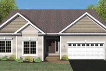 Dream House Plan - Ranch Exterior - Front Elevation Plan #1010-25