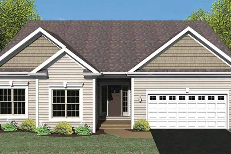 Ranch Exterior - Front Elevation Plan #1010-25