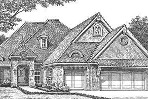 European Exterior - Front Elevation Plan #310-1267