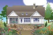 Traditional Style House Plan - 3 Beds 2 Baths 2069 Sq/Ft Plan #929-979 Exterior - Rear Elevation