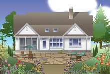 Dream House Plan - Traditional Exterior - Rear Elevation Plan #929-979