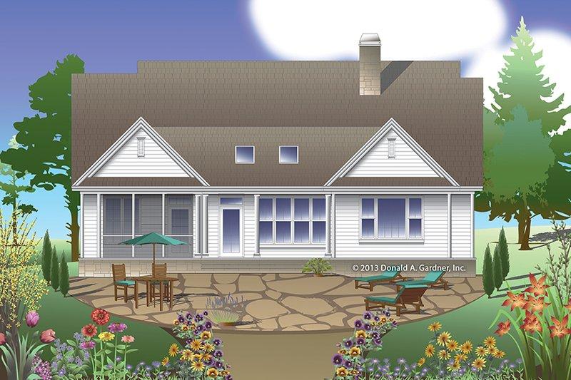Traditional Exterior - Rear Elevation Plan #929-979 - Houseplans.com
