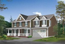 Country Exterior - Front Elevation Plan #132-310