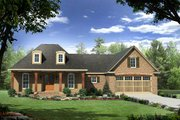 European Style House Plan - 3 Beds 2 Baths 1879 Sq/Ft Plan #21-280 Exterior - Front Elevation