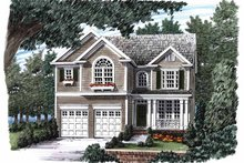 Country Exterior - Front Elevation Plan #927-897