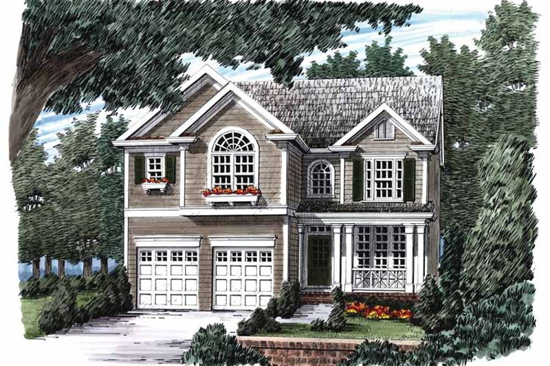 Home Plan - Country Exterior - Front Elevation Plan #927-897