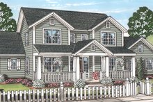 Dream House Plan - Traditional Exterior - Front Elevation Plan #513-2158