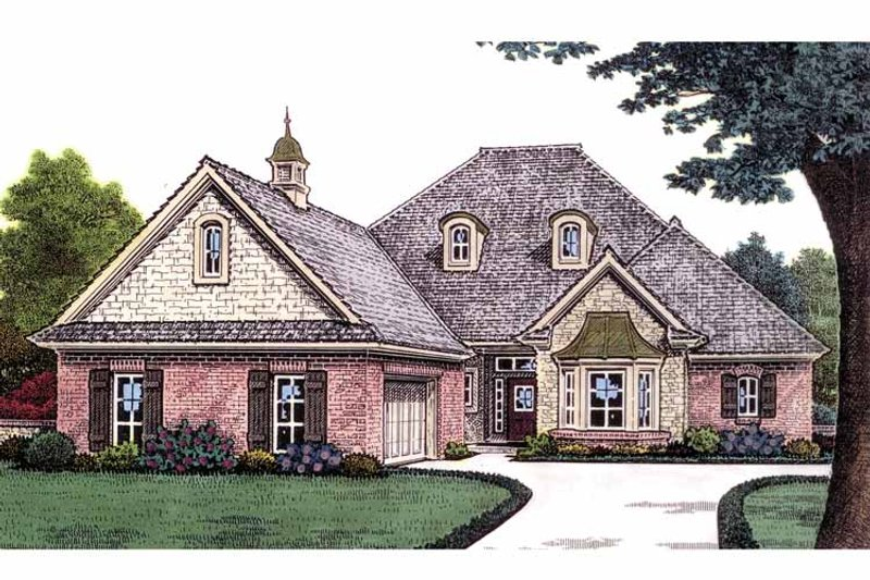 Country Exterior - Front Elevation Plan #310-1230 - Houseplans.com