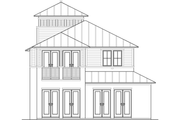Beach Style House Plan - 3 Beds 2.5 Baths 2034 Sq/Ft Plan #426-12 Exterior - Other Elevation