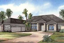 House Design - Mediterranean Exterior - Front Elevation Plan #17-1136