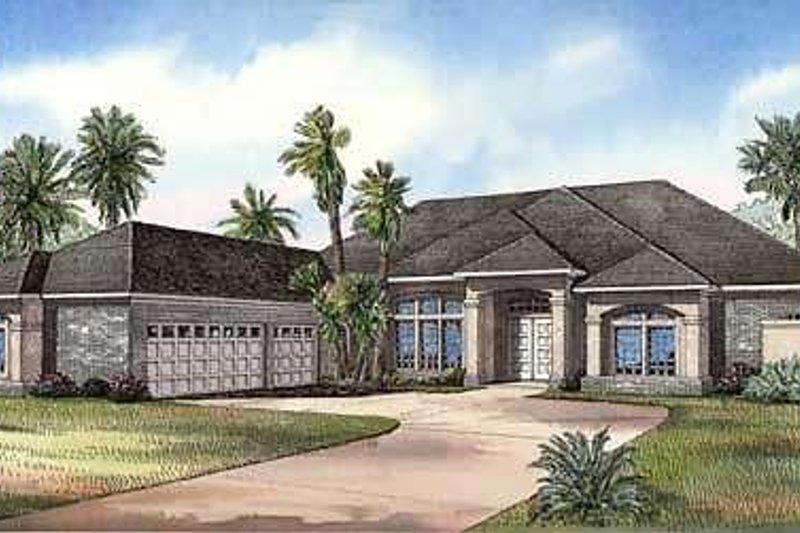 House Design - Mediterranean Exterior - Front Elevation Plan #17-1136