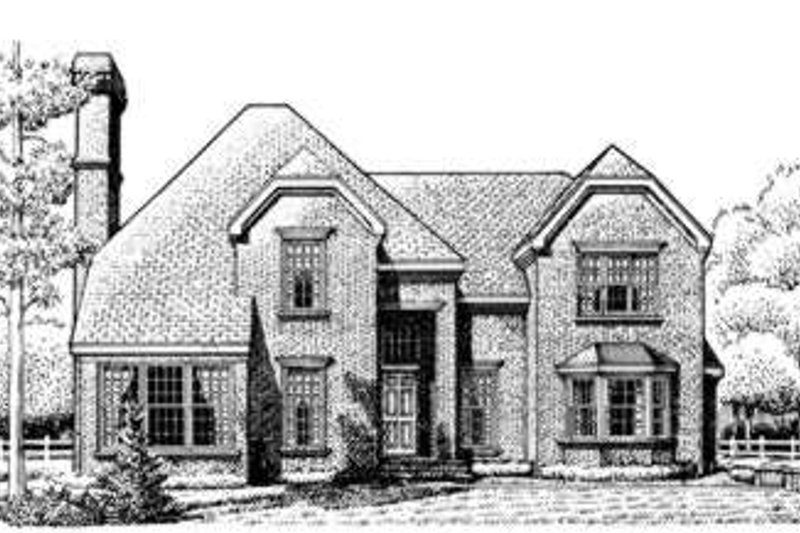 European Exterior - Front Elevation Plan #410-348