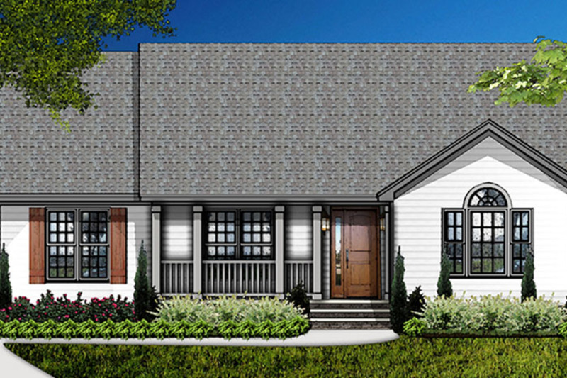 Country Exterior - Front Elevation Plan #977-3 - Houseplans.com