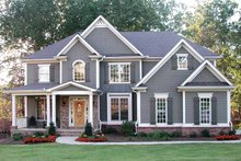 Dream House Plan - Traditional Exterior - Front Elevation Plan #54-324