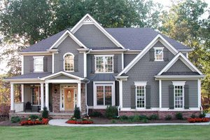 Home Plan - Traditional Exterior - Front Elevation Plan #54-324