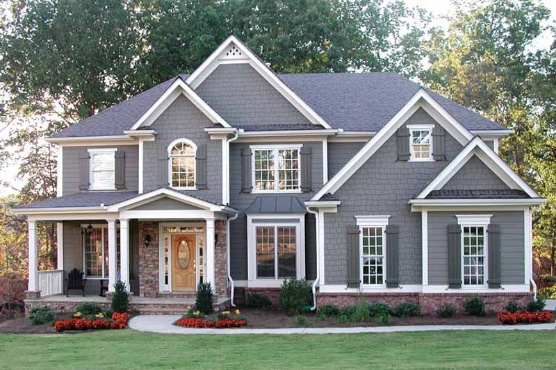 House Plan Design - Traditional Exterior - Front Elevation Plan #54-324