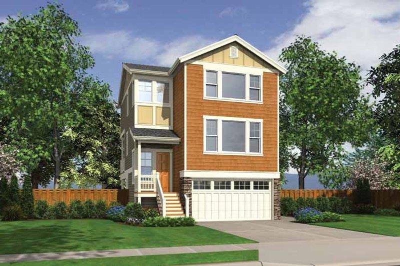 Dream House Plan - Craftsman Exterior - Front Elevation Plan #132-558