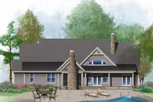 Ranch Exterior - Rear Elevation Plan #929-1005