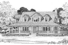 Country Exterior - Front Elevation Plan #72-106