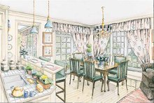 Home Plan Design - Colonial Interior - Dining Room Plan #429-178