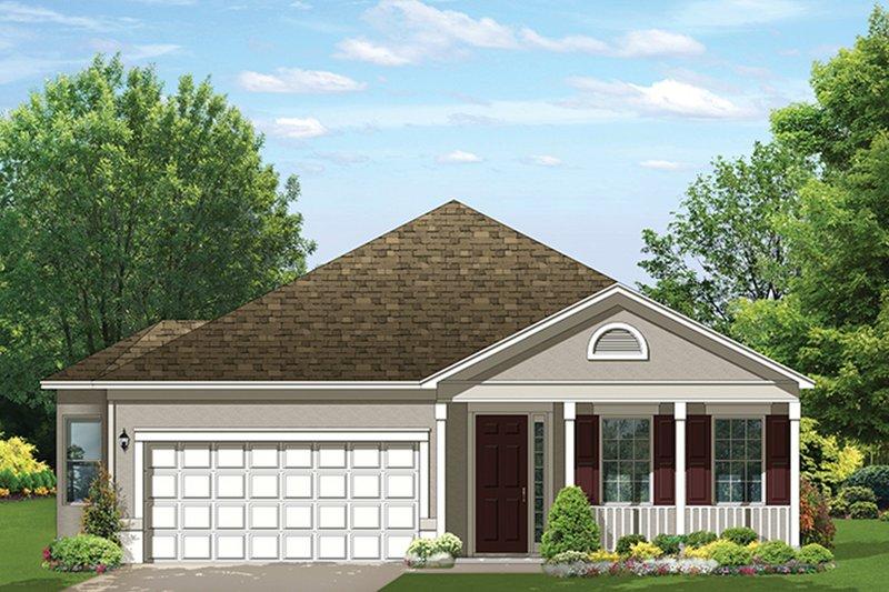 Ranch Exterior - Front Elevation Plan #1058-109 - Houseplans.com