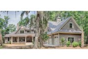 Country Style House Plan - 4 Beds 4.5 Baths 4852 Sq/Ft Plan #928-1 Exterior - Front Elevation
