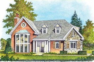 Dream House Plan - Contemporary Exterior - Front Elevation Plan #1016-99