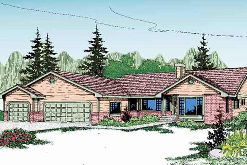 Craftsman Exterior - Front Elevation Plan #60-830