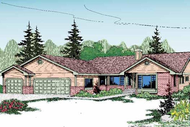 Craftsman Exterior - Front Elevation Plan #60-830