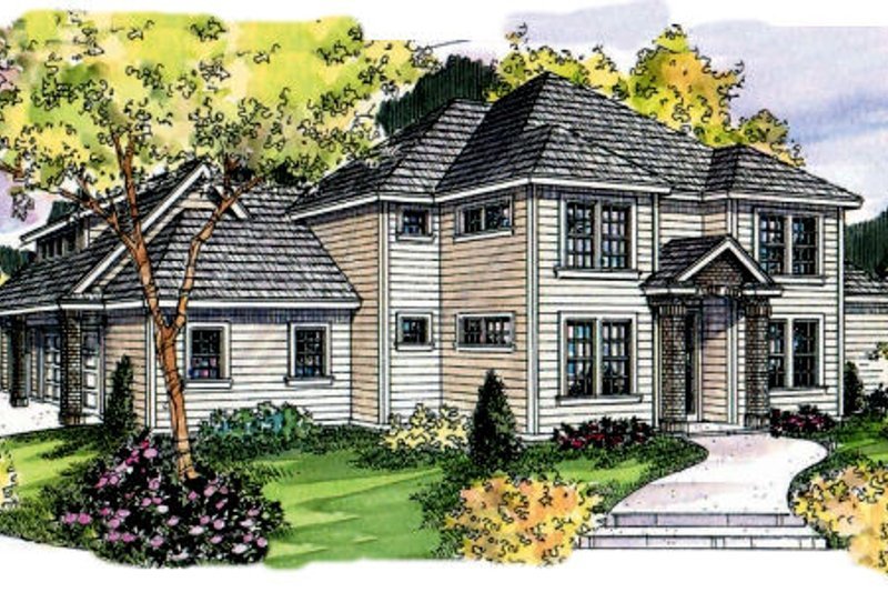 Dream House Plan - Exterior - Front Elevation Plan #124-702