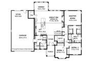 Ranch Style House Plan - 3 Beds 2.5 Baths 2006 Sq/Ft Plan #1010-145 Floor Plan - Main Floor Plan
