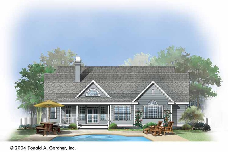 Country Exterior - Rear Elevation Plan #929-730 - Houseplans.com