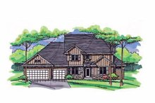 Colonial Exterior - Front Elevation Plan #51-1020