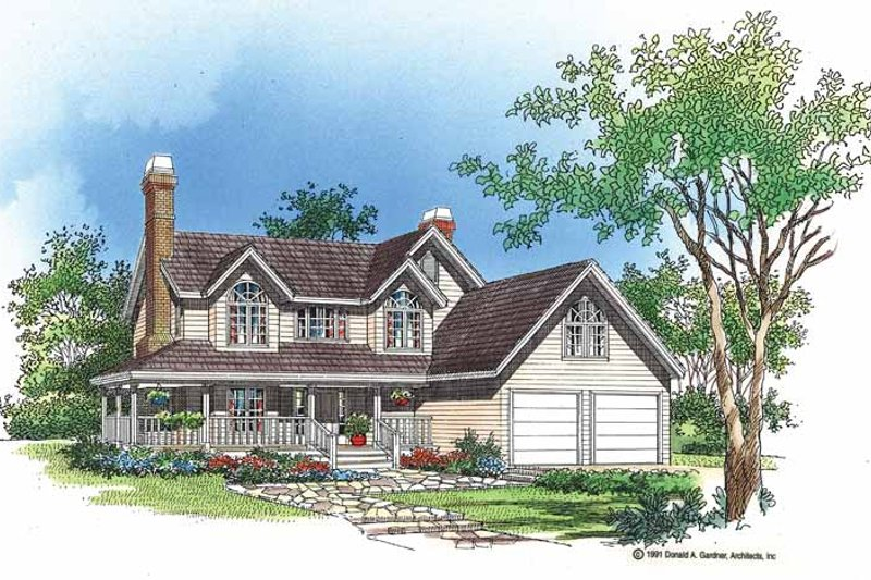 Victorian Exterior - Front Elevation Plan #929-94