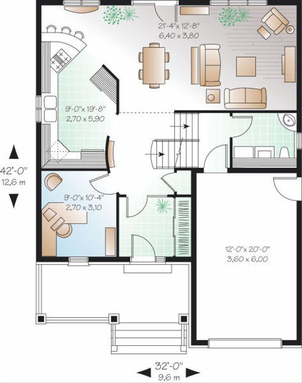 Dream House Plan - European Floor Plan - Main Floor Plan #23-798